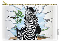 Zany Zebra Carry-all Pouch by Teresa Wing