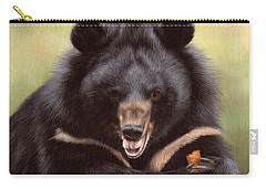 Zebedee Moon Bear - In Support Of Animals Asia Carry-all Pouch by Rachel Stribbling