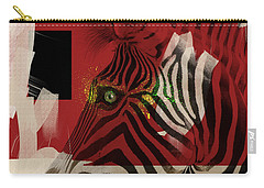 Carry-all Pouch featuring the digital art Zebra 4.0 by Nola Lee Kelsey