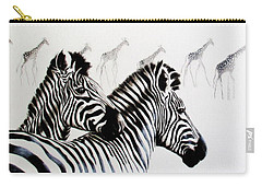 Zebra And Giraffe Carry-all Pouch