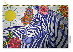 Zebra And Things Carry-all Pouch by Alison Caltrider