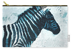 Zebra- Art By Linda Woods Carry-all Pouch by Linda Woods