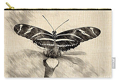 Zebra Butterfly Sketch Carry-all Pouch