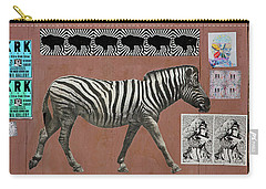 Carry-all Pouch featuring the photograph Zebra Collage by Art Block Collections