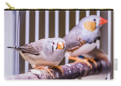 Zebra Finch Pair Carry-all Pouch