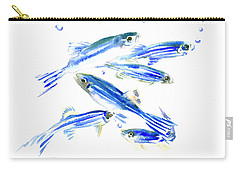 Zebra Fish, Danio Carry-all Pouch by Suren Nersisyan