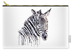 Zebra Head Carry-all Pouch by Marian Voicu