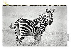 Zebra In The African Savanna Carry-all Pouch