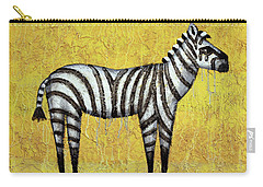 Zebra Carry-all Pouch by Kelly Jade King