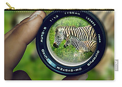 Zebra Lens Carry-all Pouch