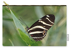 Carry-all Pouch featuring the photograph Zebra Longwing Butterfly - 2 by Paul Gulliver