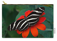 Zebra Longwing Butterfly Carry-all Pouch by Kenneth Albin