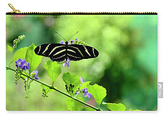 Carry-all Pouch featuring the photograph Zebra Longwing Butterfly by Corinne Rhode