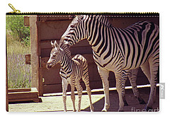 Zebra Mom And Baby Carry-all Pouch