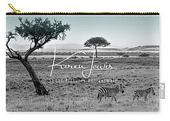 Zebra Mother And Child On The Mara Carry-all Pouch