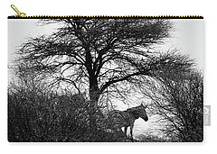 Carry-all Pouch featuring the photograph Zebra On A Hill  by Ernie Echols