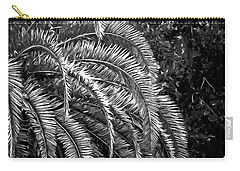 Carry-all Pouch featuring the photograph Zebra Palm by DigiArt Diaries by Vicky B Fuller