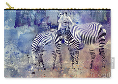 Zebra Paradise Carry-all Pouch