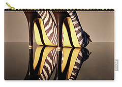 Carry-all Pouch featuring the photograph Zebra Print Stiletto by Terri Waters