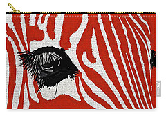 Zebra Red Carry-all Pouch
