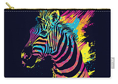 Zebra Splatters Carry-all Pouch