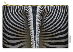 Carry-all Pouch featuring the photograph Zebra Stripes by Heiko Koehrer-Wagner