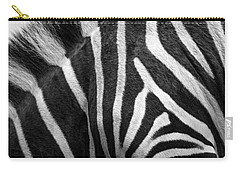 Zebra Stripes Carry-all Pouch by Racheal  Christian