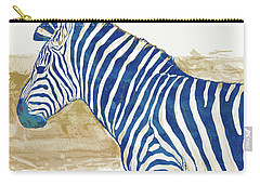 Zebra - Stylised Pop Art Poster Carry-all Pouch by Kim Wang