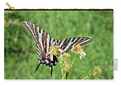 Zebra Swallowtail And Ladybug Carry-all Pouch