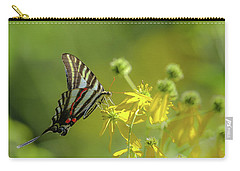 Carry-all Pouch featuring the photograph Zebra Swallowtail Butterfly by Lori Coleman