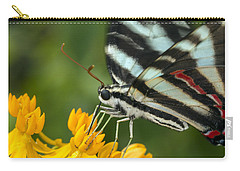 Zebra Swallowtail Drinking On The Fly Carry-all Pouch