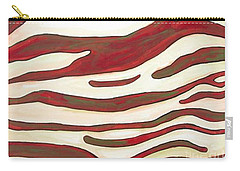 Zebra Zone - Color On White Carry-all Pouch