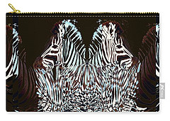 Zebraic Equation Carry-all Pouch by Stephanie Grant