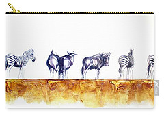Zebras And Wildebeest 2 Carry-all Pouch