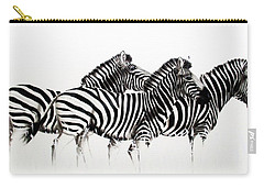 Zebras - Black And White Carry-all Pouch