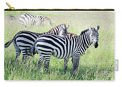 Zebras In Serengeti Carry-all Pouch by Pravine Chester