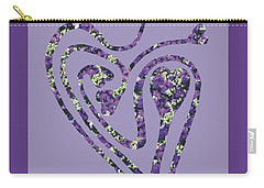 Zen Heart Labyrinth Floral Carry-all Pouch