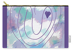 Zen Heart Labyrinth Pastel Carry-all Pouch