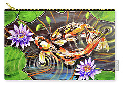 Zen Koirala Ripple Dance Carry-all Pouch by Patricia L Davidson