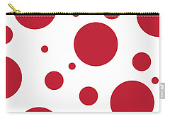 Carry-all Pouch featuring the digital art Zen Sphere Red On White by Bruce Stanfield