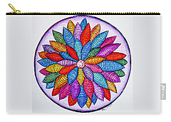 Carry-all Pouch featuring the drawing Zendala No. 4 by Megan Walsh