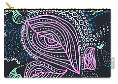 Zentangle Flower Carry-all Pouch