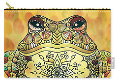 Zentangle Frog Carry-all Pouch
