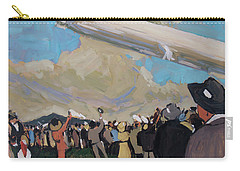 Carry-all Pouch featuring the painting Zeppelin by Nop Briex