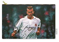 Zidane At Real Madrid Painting Carry-all Pouch