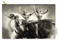Ziegfeld Model  Dancers By Alfred Cheney Johnston Black And White Ballet Carry-all Pouch