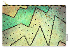 Carry-all Pouch featuring the digital art Zig Zag Two Abstract Art by Ann Powell