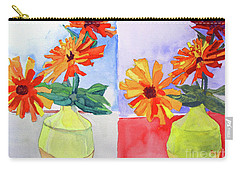 Zinnia Diptych Carry-all Pouch