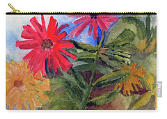 Zinnias In The Garden Carry-all Pouch