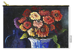 Zinnias Carry-all Pouch by Marlene Book